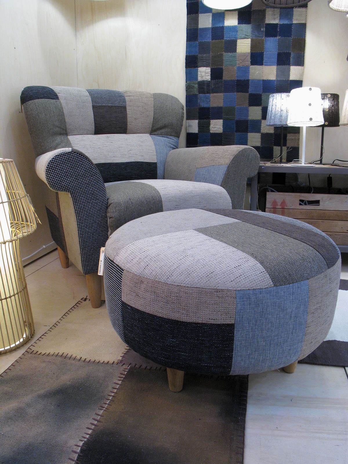 Like this alot Have the denim need the chair and ottoman