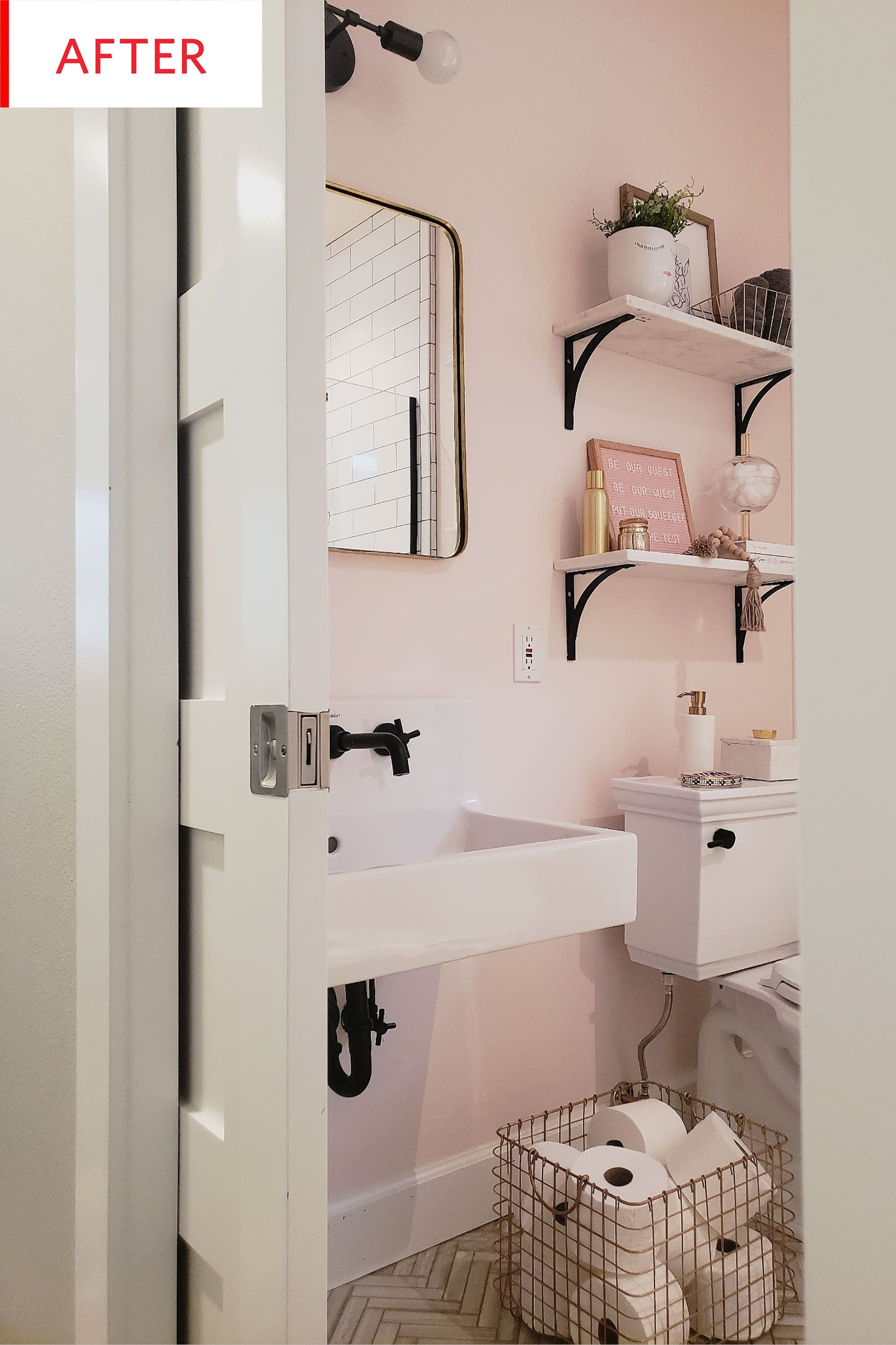 Photo of Before and After: This Tiny Bathroom Redo Triggers Some Major Cute Aggression