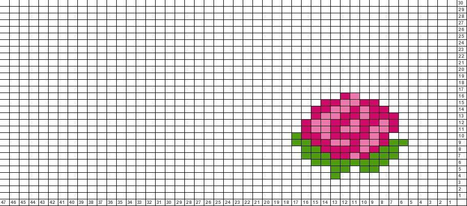 Tricksy Knitter Charts:rose