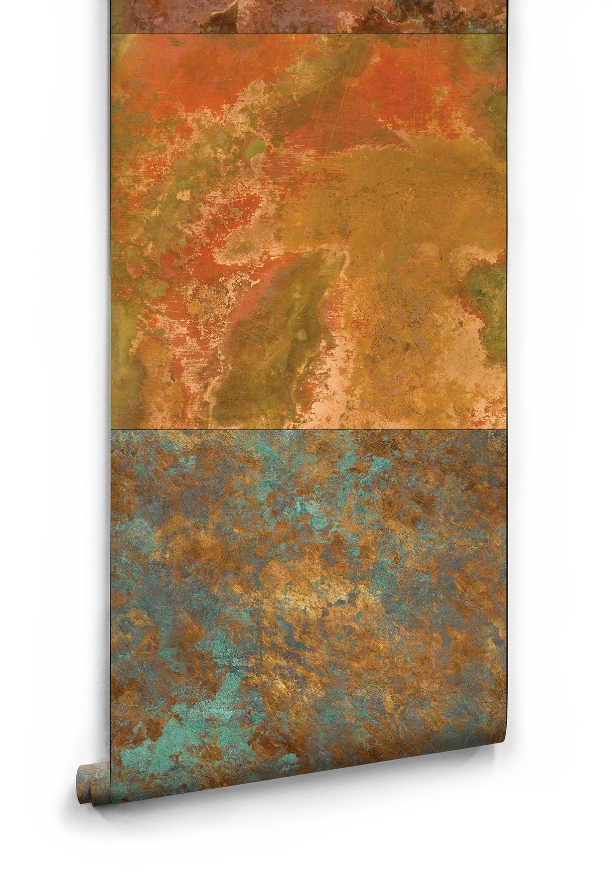 Bronze Copper Metal Wallpaper From Milton King