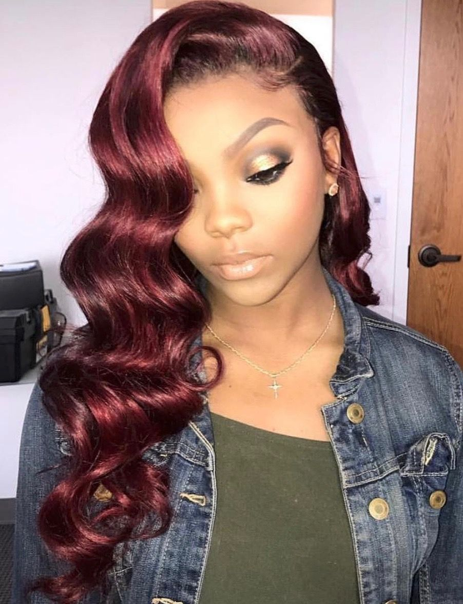 Black Hairstyles With Color Just On Top Hair Weave Care