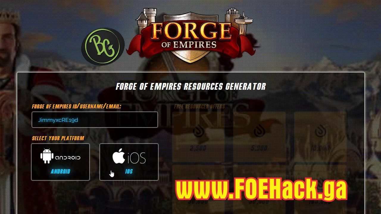 forge of empires free diamonds hack