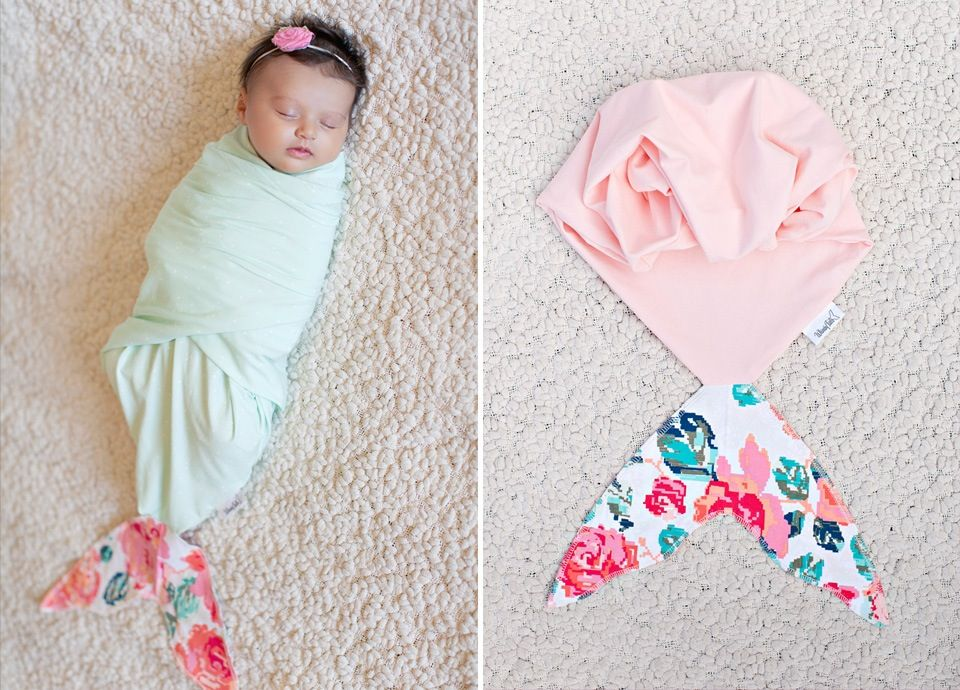 Newborn Mermaid Swaddle Blankets by Whimsy Tails. Adorable!!   Baby ...
