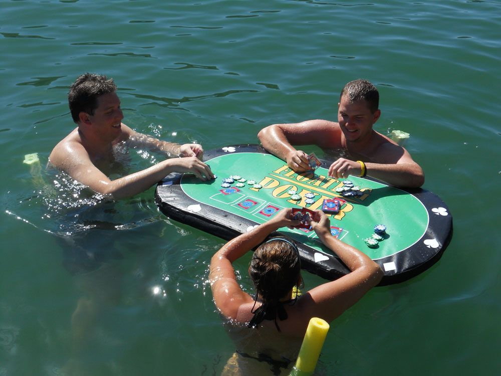 Floating Poker Table Too Funny Cool Pool Floats Pool