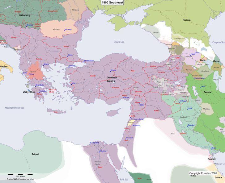 Map showing europe 1800 southeast tarih pinterest ottoman map showing europe 1800 southeast gumiabroncs Images