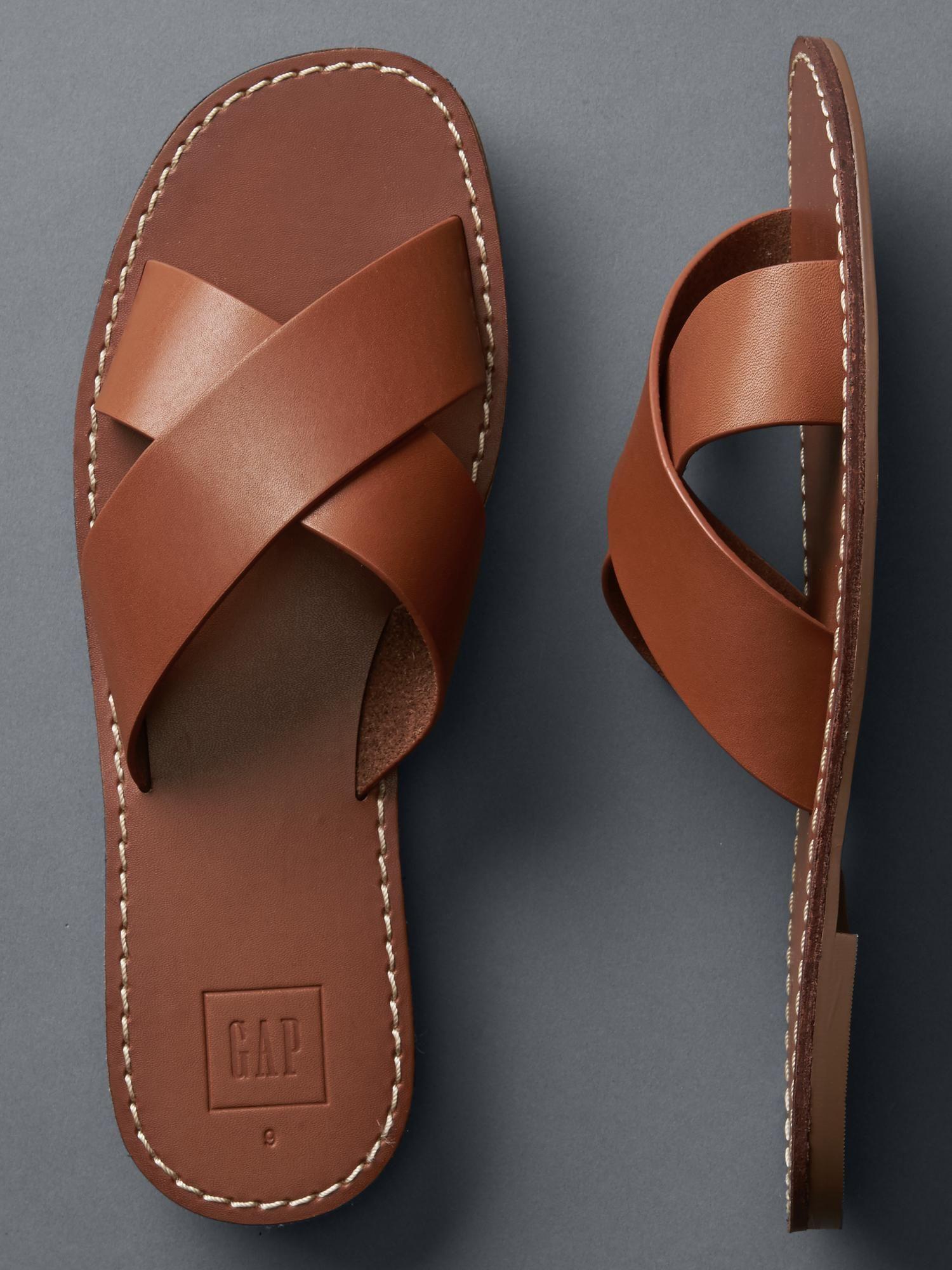 tienda de liquidación fabricación hábil venta más caliente Cross strap slides   Gap   Sandalias en 2019   Zapatos de ...