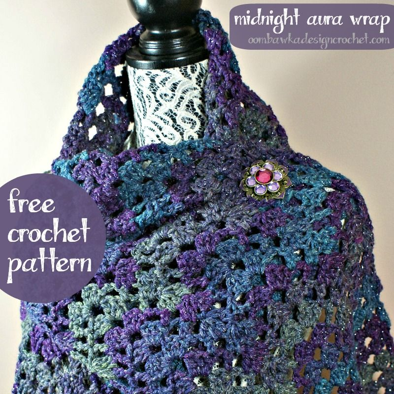 Midnight Aura Wrap Free Pattern from Oombawka Design   Chal, Ponerse ...