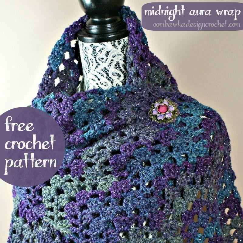 Midnight Aura Wrap Free Pattern from Oombawka Design | Auras, Free ...