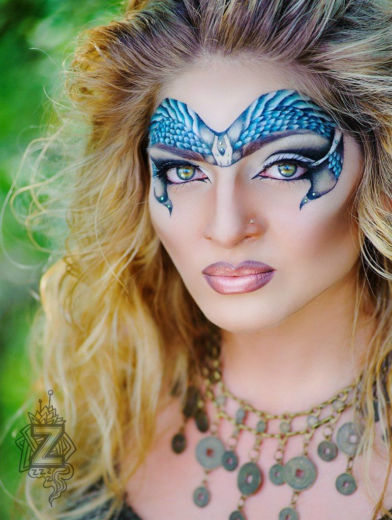 Sparkle shine glitter hair and makeup feathers shimmer - Artistic Tribal Feather Blue White And Black Fantasy Makeup Mask With Crystal Accents By