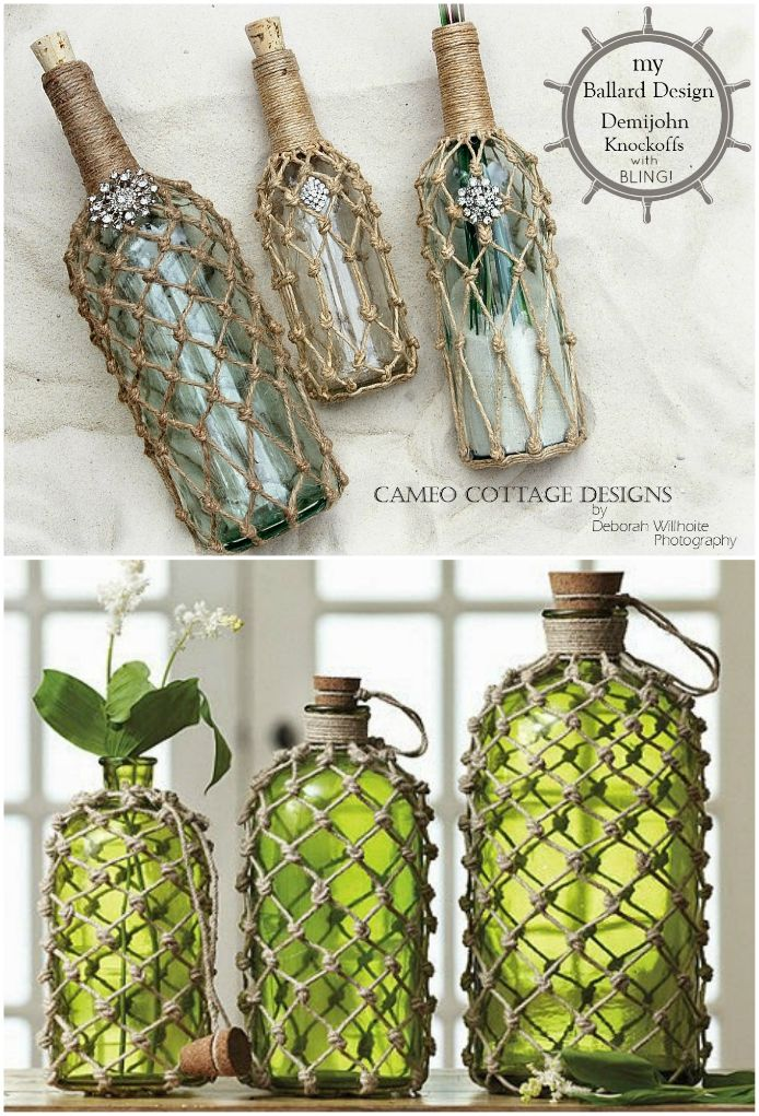 Jute Knotted Bottles And Lanterns Video Instructions