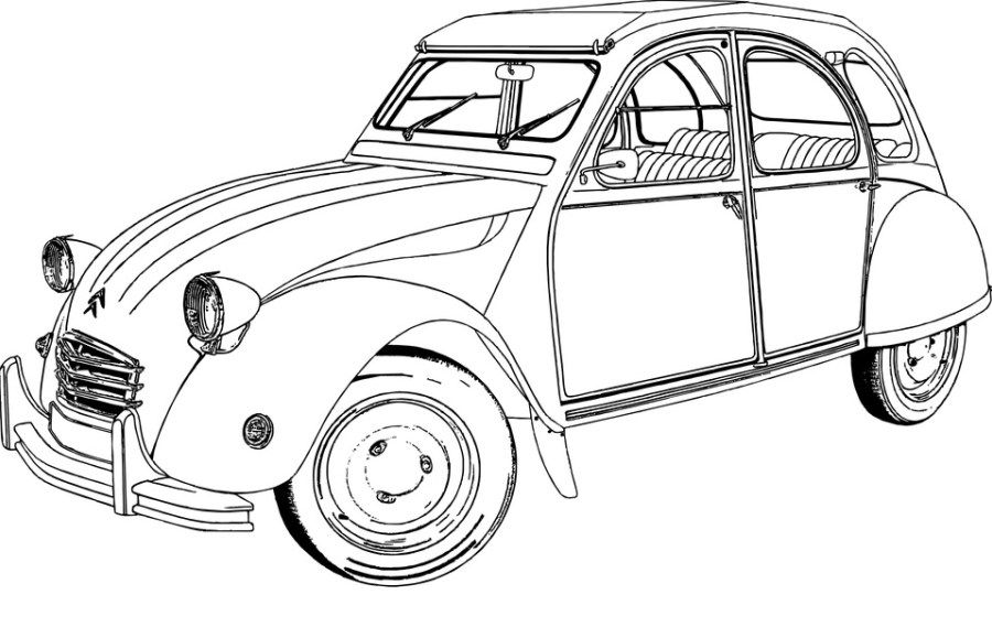 classic car COLORING PAGES Pinterest Cars