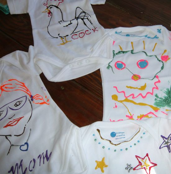 Painted onesies from my baby shower