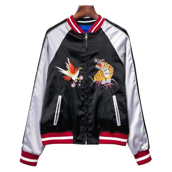 Japan Bomber jacket (£72) ❤ liked on Polyvore featuring outerwear, jackets, bomber style jacket, flight jacket, blouson jacket and bomber jackets