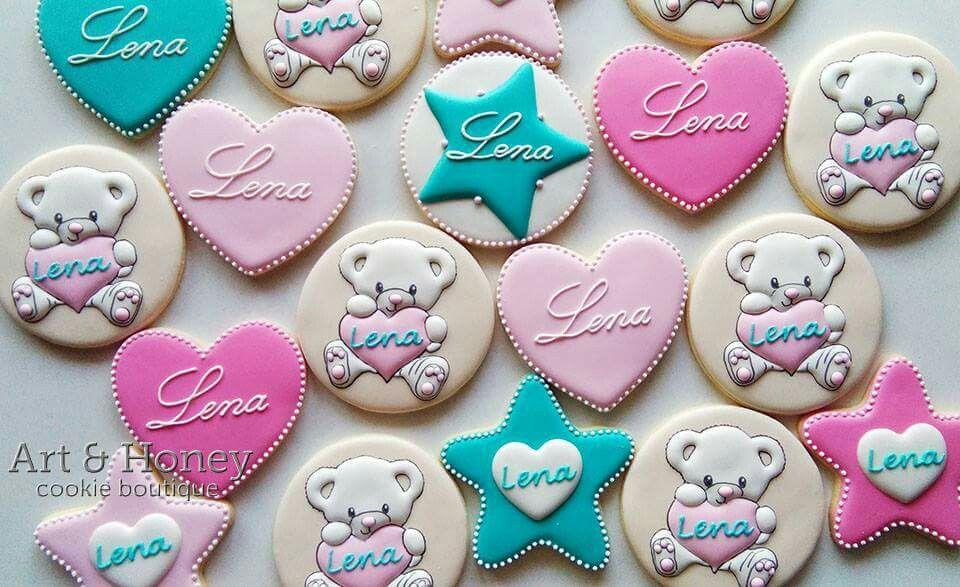 Teddy Bear Cookies Valentine cookies, Cupcake cookies