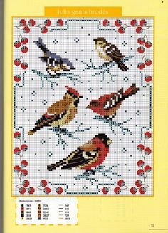 cross stitch birds - Cerca con Google