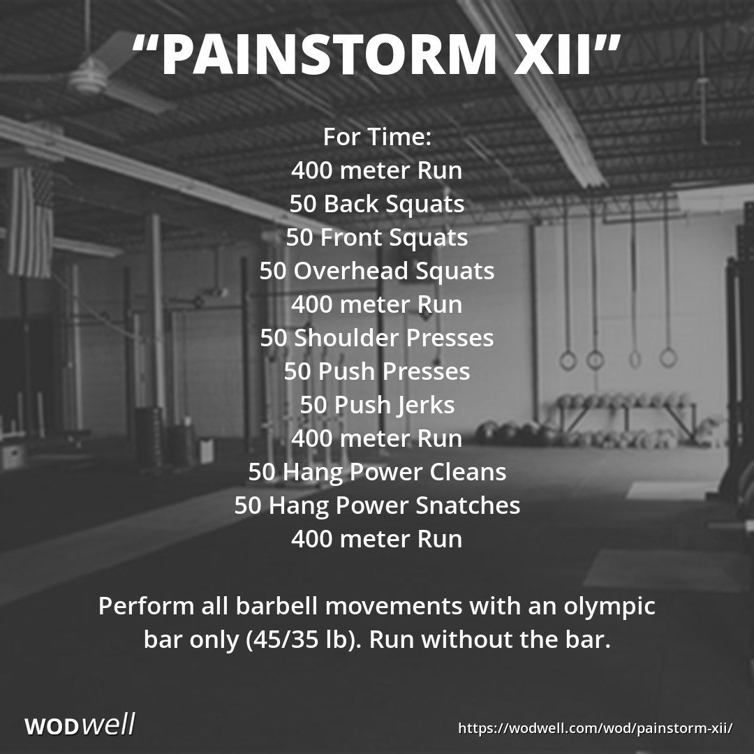 Painstorm Xxi Wod Wod Crossfit Crossfit Workouts At Home Wod Workout