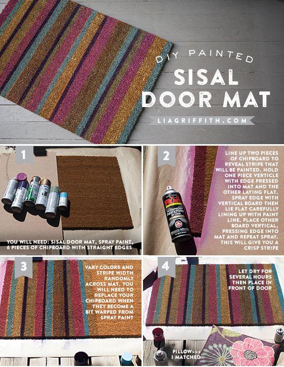 Customize A Door Mat For Your Fall Porch Lia Griffith Door Mat Home Diy Crafty Diy