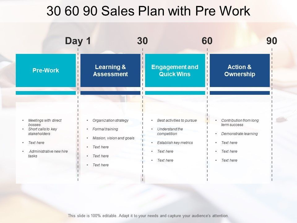 Top 30 60 90 Day Sales Plan Template Examples in 2020