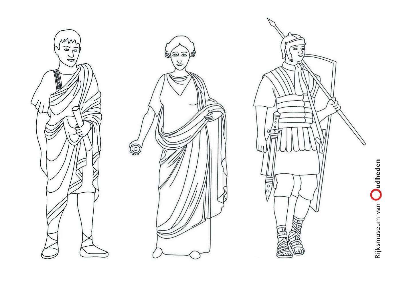 Op De Kleurplaat Zie Je Drie Romeinen Kleur Ze In Hoe Jij Denkt Dat Ze Eruit Zagen In De Romeinse Tijd Romeinen Romeinse Kunst Oudheid