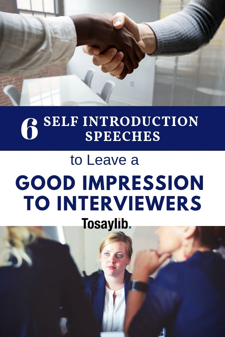 6 Self Introduction Speeches to Leave a Good Impression to ...