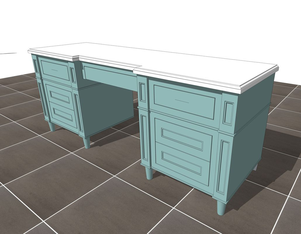 Luxury traditional bathroom vanity counter inspiration for Table design sketchup