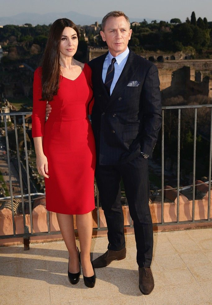 d77b107a253a Daniel Craig Wears Brunello Cucinelli for James Bond Spectre Photocall