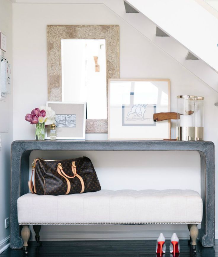 Image result for entryway console table with bench underneath