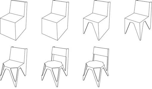 Sketch Design Wooden Chairs Legs Of Steel With A Chair Combination Kurven By Cody Stonerock Rear Views
