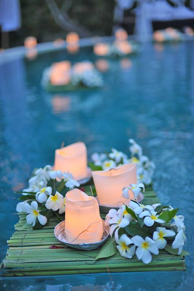 21 Wedding Pool Party Decoration Ideas For Your Backyard Wedding Wedding Pool Party Decorations Pool Wedding Wedding Pool Party