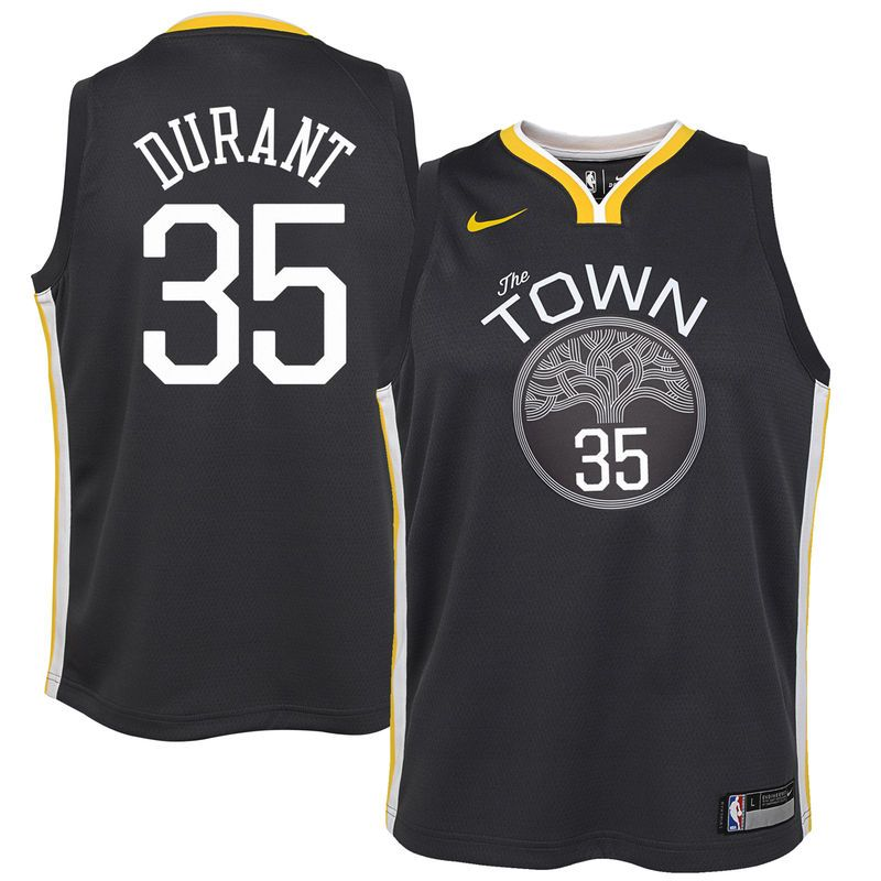 Kevin Durant Golden State Warriors Nike Youth Swingman Jersey Black -  Statement Edition bcdbc8325
