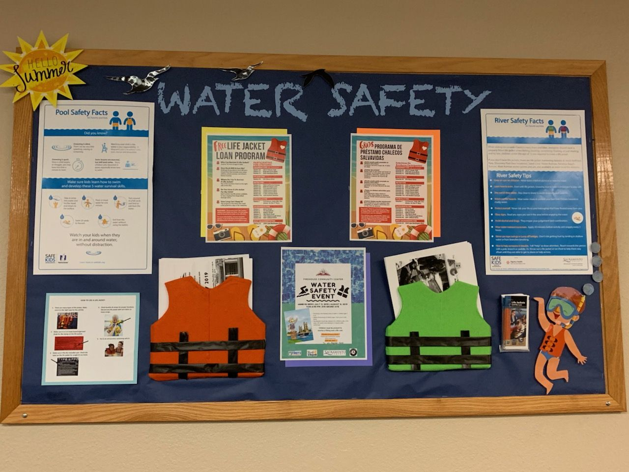 This Month I Created A Board For Summer Water Safety Since