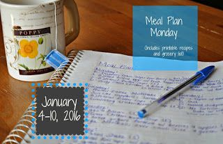 Darcie's Dishes: Meal Plan Monday: 1/4-1/10/16 // Start the new year off on the right foot with healthy eating. This meal plan is for seven days and includes all meals, snacks and drinks. It is Trim Healthy Mama compatible.