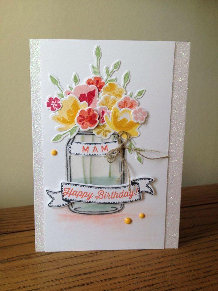 stampin up jar of love  mason jar cards cards handmade