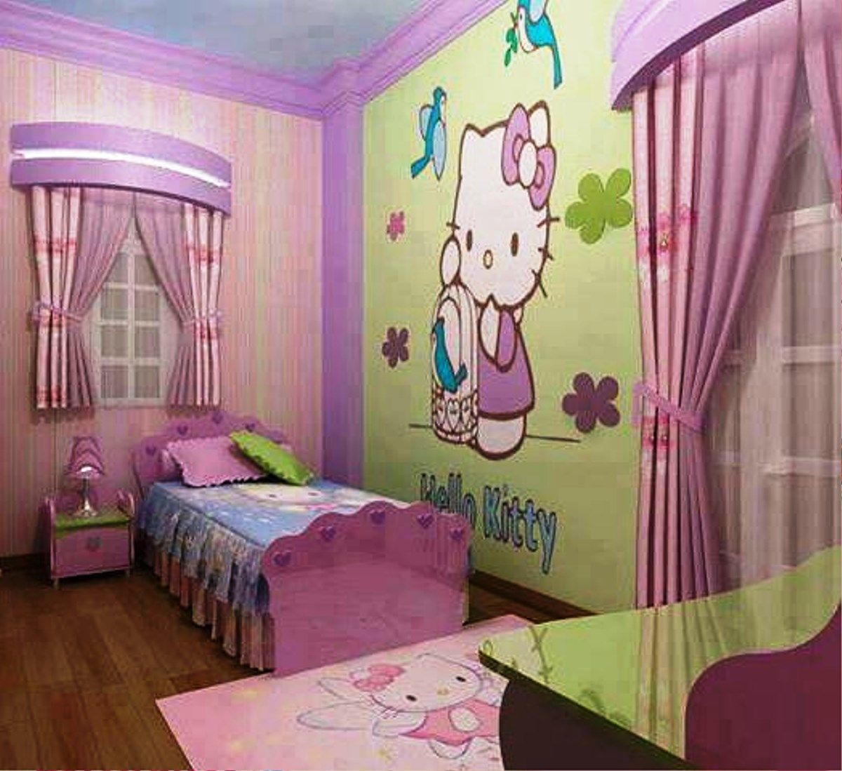 Bedrooms for girls hello kitty - Hello Kitty Girl S Room