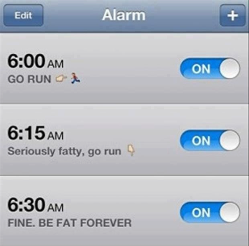 Hmm This Is Kinda What My Alarm Clock Looks Like Fitness Motivation Get Fit Lol