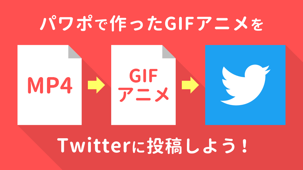 Powerpointでgifアニメを作りtwitterに投稿する方法 2020 Gif