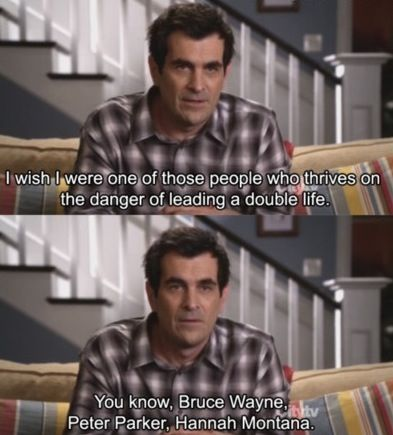 Phil Dunphy On Leading A Double Life Family Funny Modern Family Funny Modern Family