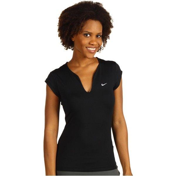Nike Pure Tennis Top Women S T Shirt Black Tennis Tops Tennis Shirts Women