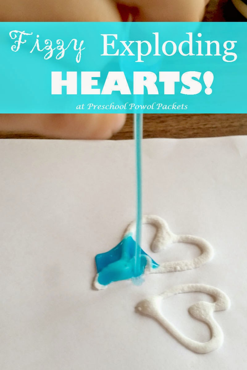 Valentines Science Experiment: Fizzy Exploding Hearts #scienceexperimentsforpreschoolers