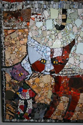 Cats Kittens Modern Mosaics Ceramic Tile China Marble Smalti Stained Gl Vitreous