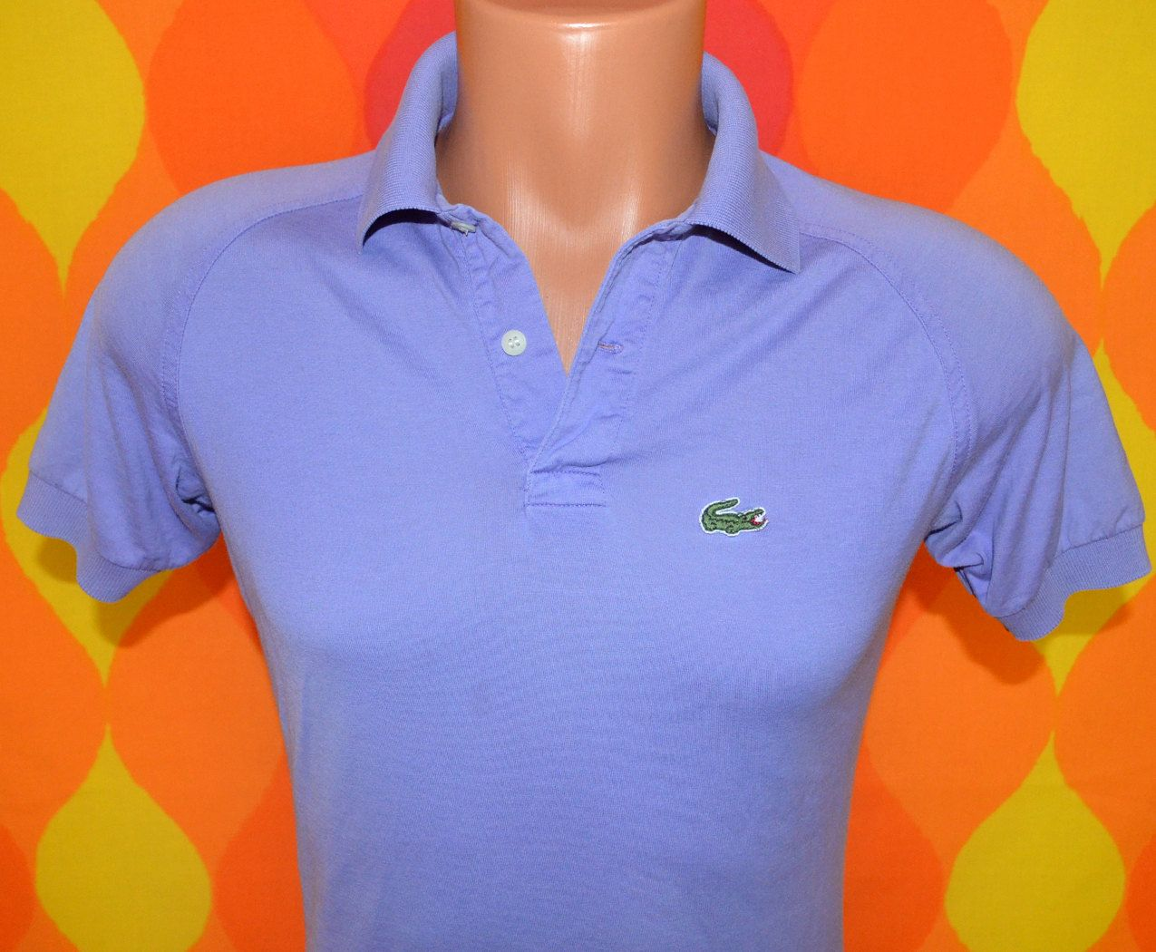 Vintage 70s golf shirt izod lacoste polo tennis small for Lacoste shirts with big alligator