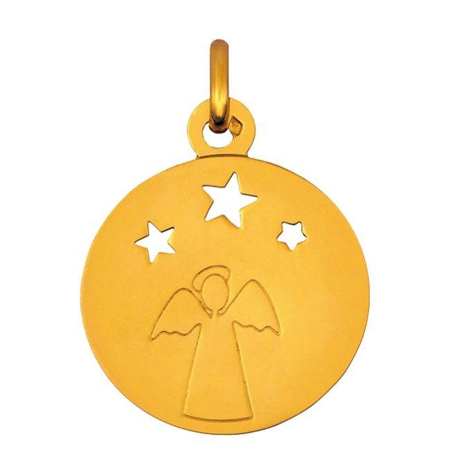 Häufig Médaille de baptême en or Ange étoiles ajourées | Baptême Juliette  FN36