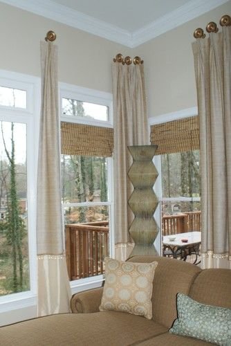 Kitchen Bay Window Treatments Diy