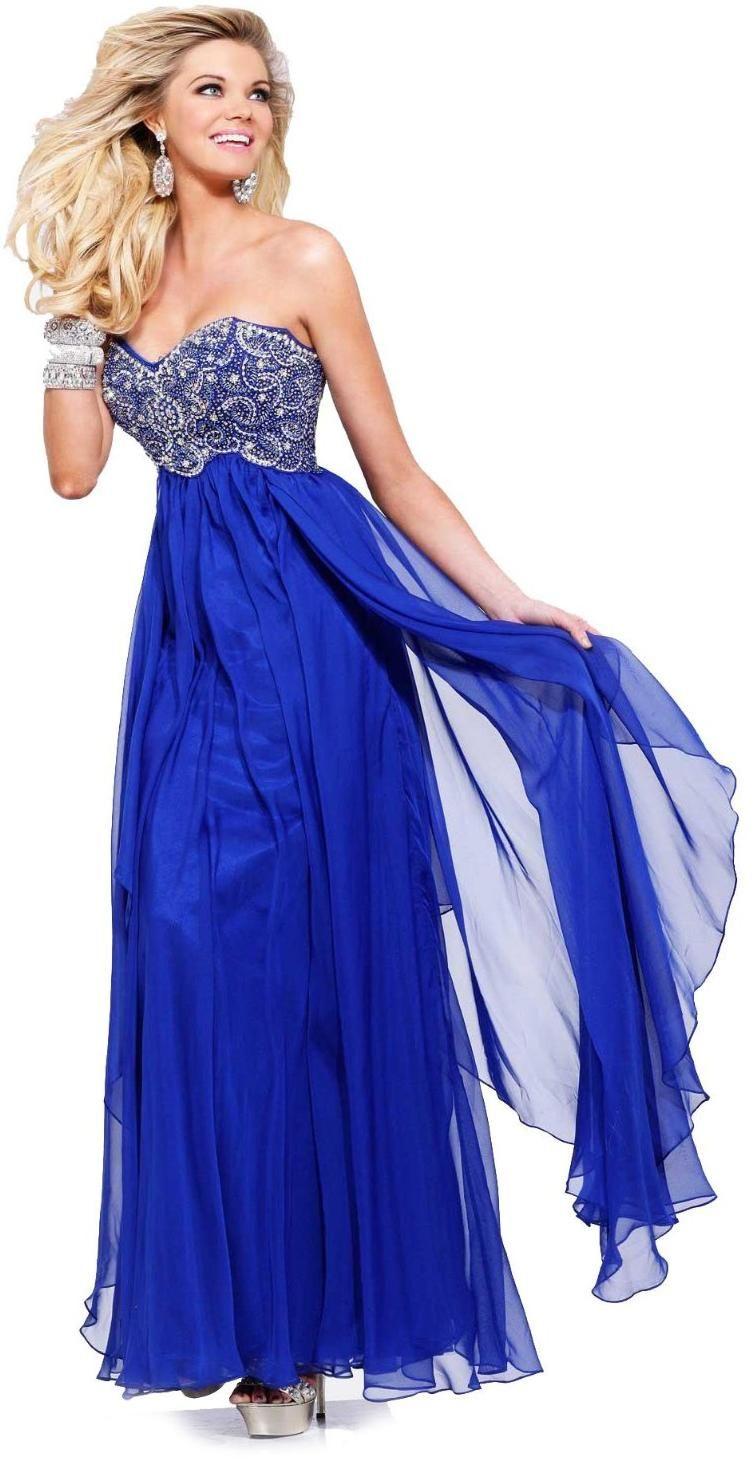 Vestido graduacion azul rey