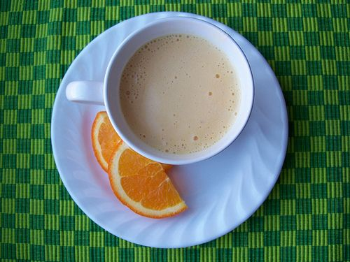 orange cream smoothie recipe, with tips on freezing oranges