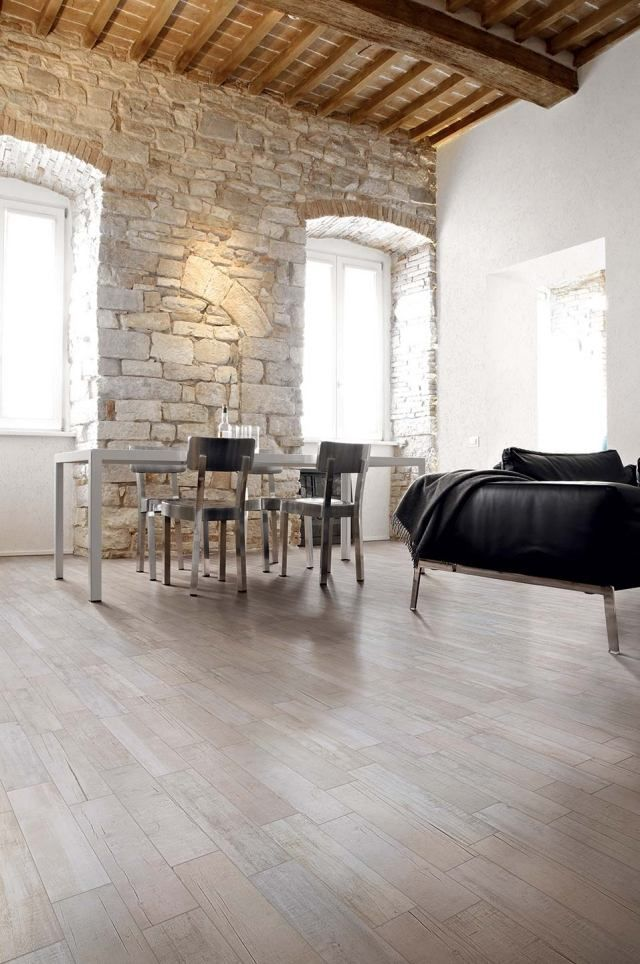 Carrelage imitation parquet id es pour l 39 int rieur for Mur interieur en pierre