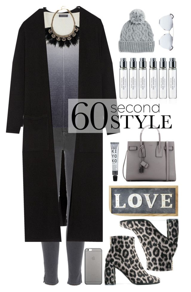 """grey ombre 😍"" by jasmimestefany ❤ liked on Polyvore featuring Theory, rag & bone, Mint Velvet, Stella & Dot, Yves Saint Laurent, Rella, Native Union, Byredo, Parlane and STELLA McCARTNEY"