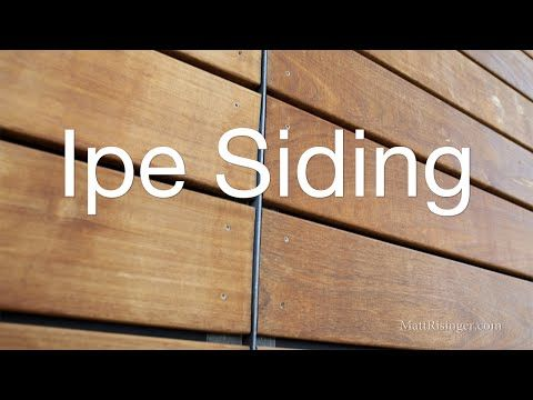 Ipe Wood Siding Open Joint Rain Screen W Delta Fassade S