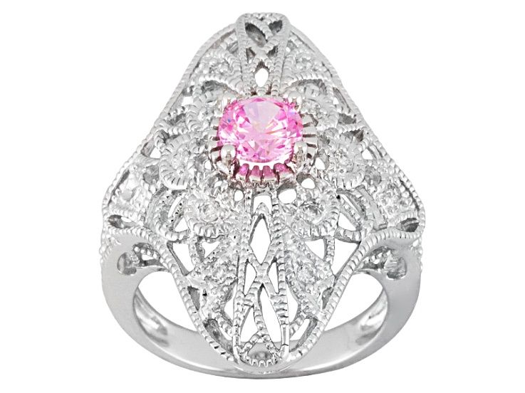 Sizes 5-10 Prime Jewelry Collection Sterling Silver Womens Colorless Cubic Zirconia Wedding Set Round Solitaire Ring