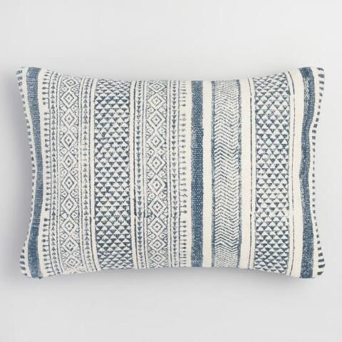 Twilight Hues And Shades Of Stonewashed Gray Mingle In A Striped Patchwork Pattern Giving Our Chic Lumbar Pillow An Ai Diy Throw Pillows Throw Pillows Pillows
